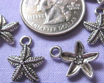 Starfish Charm 5 pieces Tibetan Silver Jewelry Supply Star fish