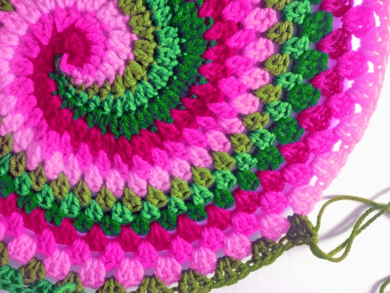 Pdf Pattern For Rainbow Spiral Granny Blanket From