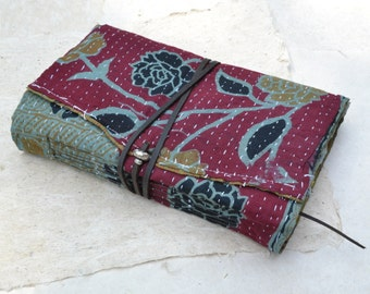 Kantha Journal with Handmade Cotton Rag Paper