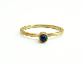 Sapphire Ring Gold Ring with stone Ring for women 18K Stacking ring