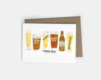 Spring Beer A6 Greeting Card