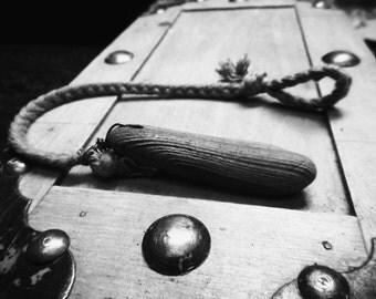 Drifting. Driftwood & Braided Linen Celtic Wish Bracelet.