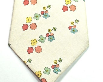 Floral Necktie Mint Floral Necktie Mens Neckties Custom Neckties Skinny Neckties