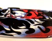 The American Way Red White and Blue Flames July 4th Patriotic Dog Collar