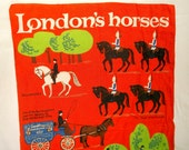 Vintage LONDON'S HORSES Linen Towel by ULSTER