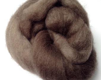 """Needle Felting Wool, Needle Felting Roving, """"Tawny Brown"""" Wet Felting Wool"""