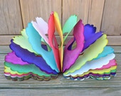 Vintage Rainbow Tissue Paper Accordion Style Party Streamer