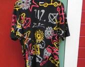 U2 Zooropa T shirt, super rare, men's XL, all over print