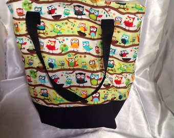 Bright Owls Insulated Zip-up Lunch bag