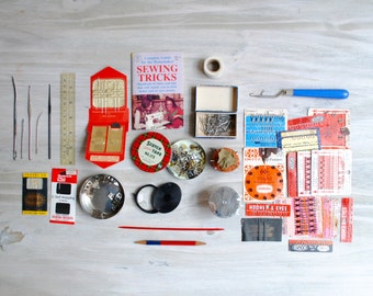 Lot of Vintage Sewing and Knitting Supplies