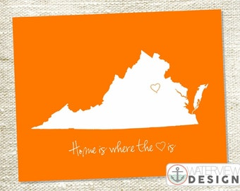 Virginia Printable - Home is Where the Heart Is