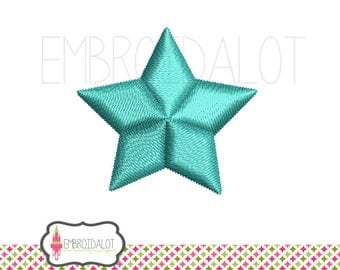 Mini star embroidery design. Pretty little basic star machine embroidery design good for tiny spots. Mini embroidery for babies.