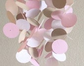 Baby Mobile in Light Pink, Taupe and White, OR Customize the colors to match your nursery