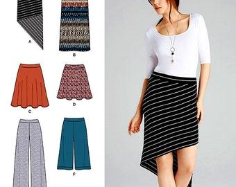 Asymmetric Skirt Pattern, Wide Leg Pants or Gauchos Pattern, Skater Skirt Pattern, One Hour Sewing Pattern, Simplicity Sewing Pattern 1068