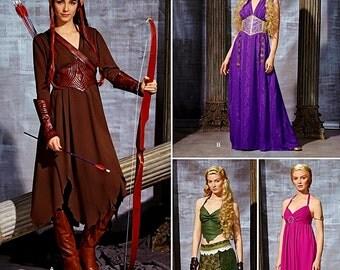 Warrior Elf Costume Pattern, Elf  Princess Costume Pattern, Fantasy Costume Pattern, Simplicity Sewing Pattern 1010