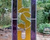 LSU Stained Glass Sun Catcher