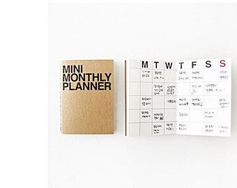 Monthly planner -mini size