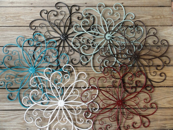 Beach Chic Wall Decor : Cottage chic metal wall decor beachy beach turquoise