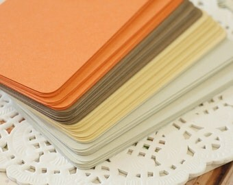 50pc EARTHY Vintage Series Business Card Blanks