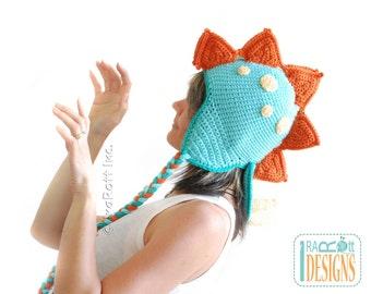 CROCHET PATTERN Spiky the Stegosaurus Dino Hat PDF Crochet Pattern with Instant Download
