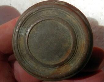 1 antique brass door knobs for crafts or what ever vintage original old