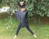 Children's Satin Black Bat Wings - Handmade, Halloween, Dress Up, Costume