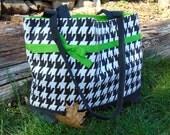 Custom Order for Susie 1  Black and Grey Fleur De Lis Tote Bag, Custom Colors, Custom Size
