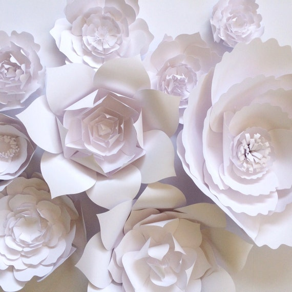 paper flower wall ready to ship white paper flower backdrop