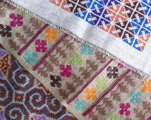 Hill Tribe Embroidery - Three Pieces No.2