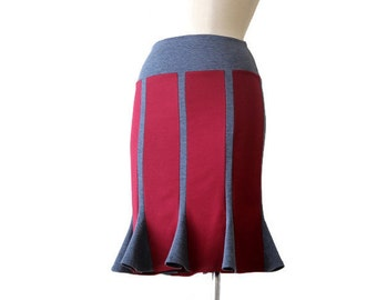 Pencil skirt, Jersey Skirt, Office Skirt, Stretchy Skirt, Bordo Burgundy Pencil Skirt, Knee Length Skirt, Ready to Ship
