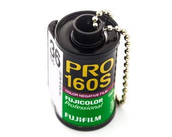 Recycled 35mm Film Keychain - Fujifilm Pro 160S