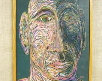 Male Portrait Painting, Wil Shepherd Studio, Portraiture, Original Fine Art, Framed, Paintings of Men, Masculine, Hand Painted, Handmade