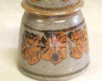 Ceramic Canister , Studio Pottery , Pottery , Ceramics , Storage , Sugar Bowl , Storage Canister , Earthenware , Handmade , Earth Tone , Pot