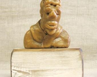Male Bust , Wax Sculpture , Encuastic , Wax , Male Figure , Made of Wax , Handmade , Lost Wax , Wax Mold , Male , Bust , Sculpture , Art
