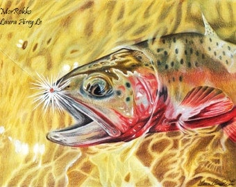 Greenback Cutthroat Trout - 8 x 10 Fine Art Print - By Laura Airey Le