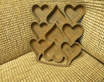 Rusty Crusty Heart Cookie Mold Shabby and Industrial
