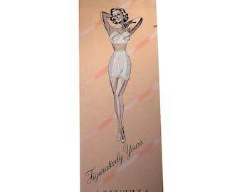 Vintage 1950s Lewella Waist Cincher Garter Little Slam BOX ONLY
