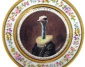 """Marquise de Struthio - Altered Antique Plate 9.5"""""""