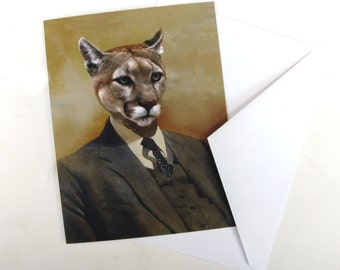 Colin the Cougar - Note Card