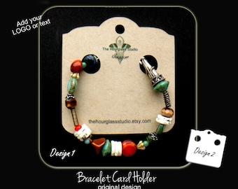 Custom bracelet display cards, 001,Custom necklace display cards, Bracelet cards, Necklace cards, Jewelry cards, Craft show display