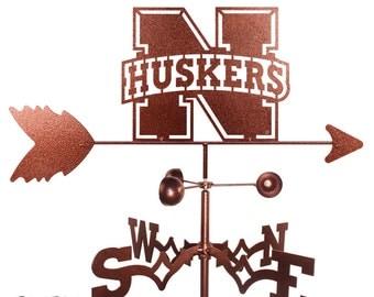 Hand Made Nebraska Huskers Weathervane New