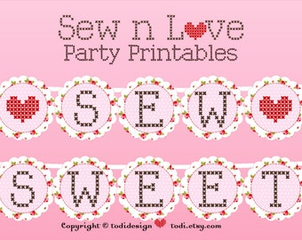 Sew Sweet Party Banner