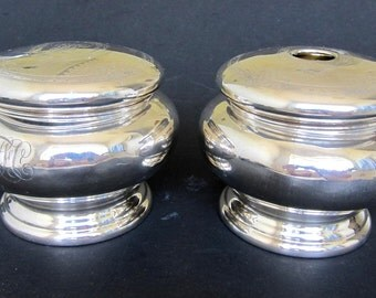 Antique  Sterling Silver Powder & Hair Receivers  12.76 TOZ
