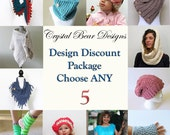 CROCHET PATTERN Discount Package Deal Choose Any 5
