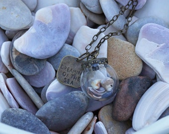 Dreaming of the Sea Glass Bubble Necklace
