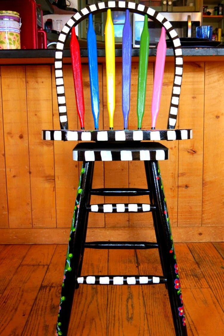 Funky Hand Painted Bar Stools Funky Furniture By