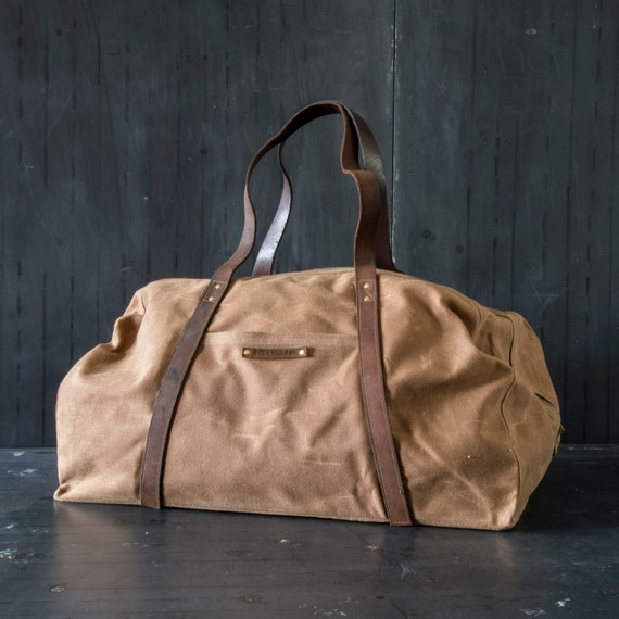 Waxed Canvas Weekender: Spice by Peg and Awl