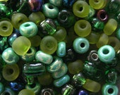 Green Jubilee  6/0 Seed Bead Mix 15 grams