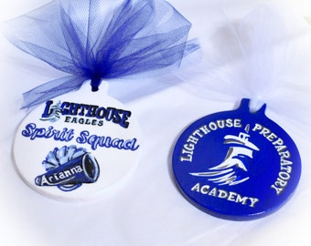 School Mascot Personalized Ornaments, Sports Team, Custom