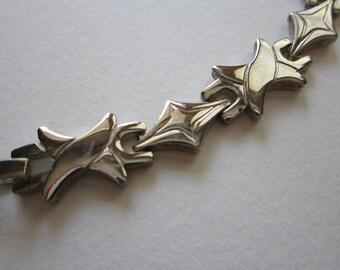 vintage bracelet - silver links - stamped 925 - 7.25 inches